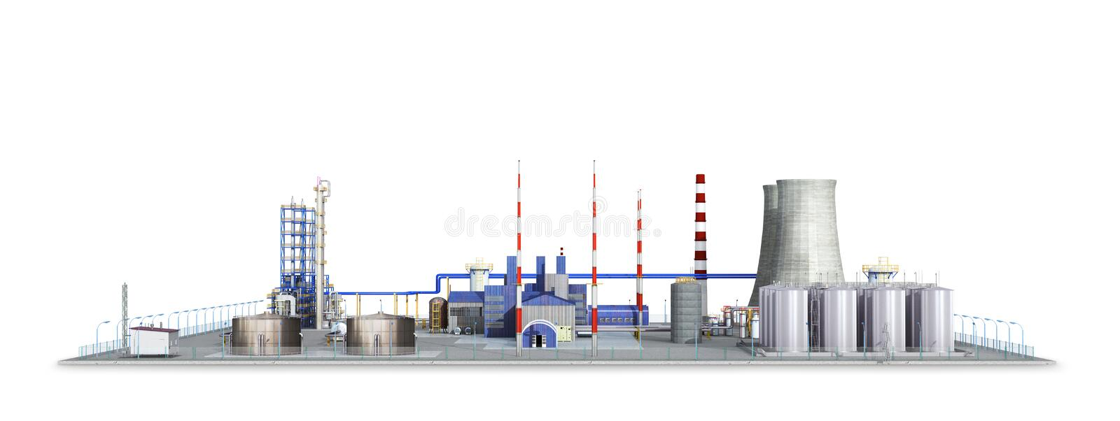 Factory, Isolated on white background. vector illustration