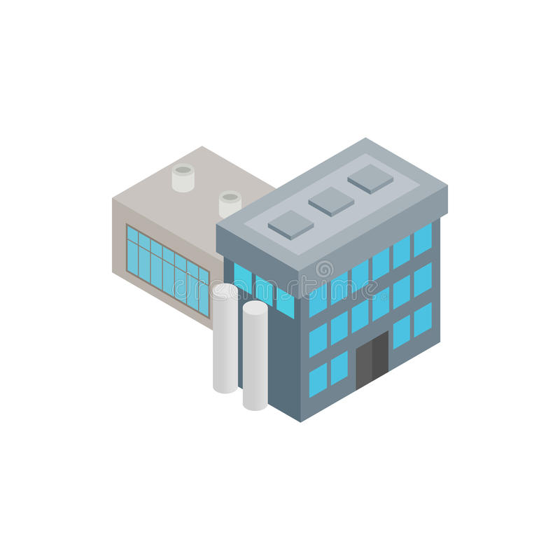 Factory isometric 3d icon. Isolated on a white background royalty free illustration