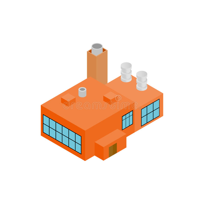 Factory isometric 3d icon. On a white background royalty free illustration