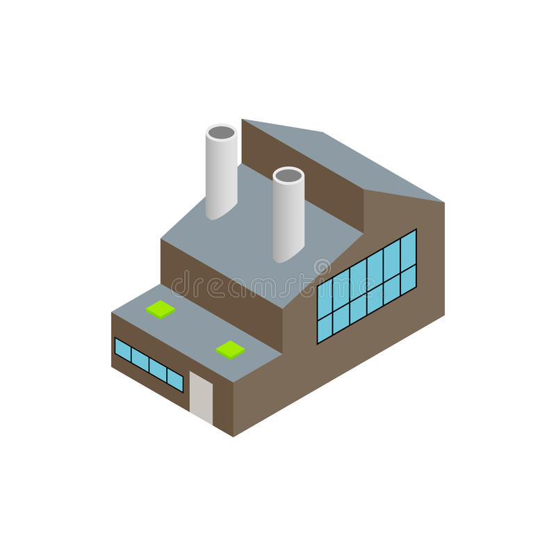 Factory isometric 3d icon. On a white background vector illustration