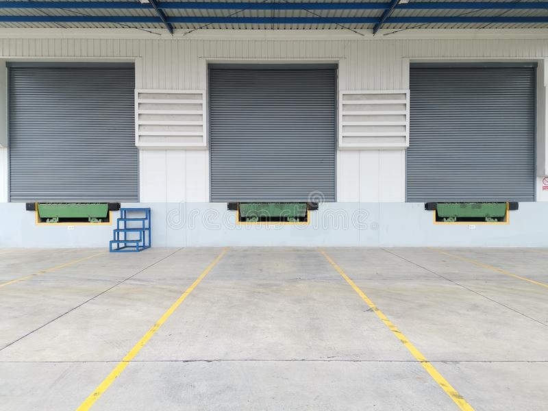Factory loading area royalty free stock images
