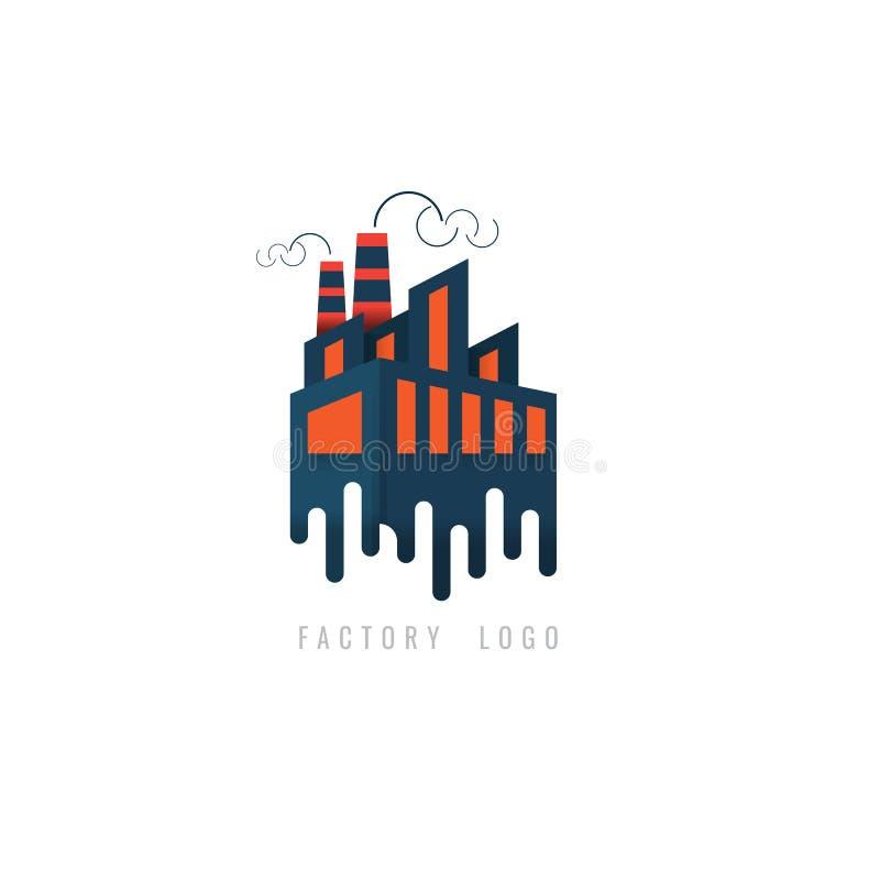 Factory logo Creative concept for web. graphic representation of stock illustration