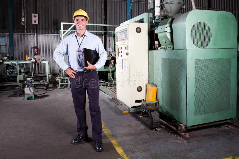 Factory manager royalty free stock photography
