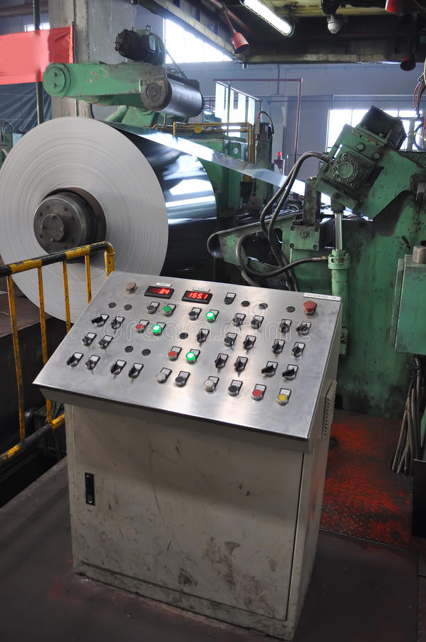 Factory molding machine. In Heavy industrial production workshop of china stock photo