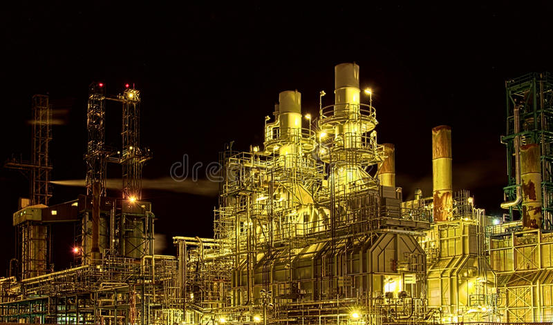 Download Factory at night stock image. Image of structure, industry - 21617031