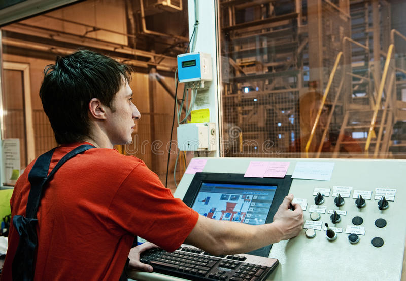 Download Factory operator stock image. Image of machine, device - 10117139