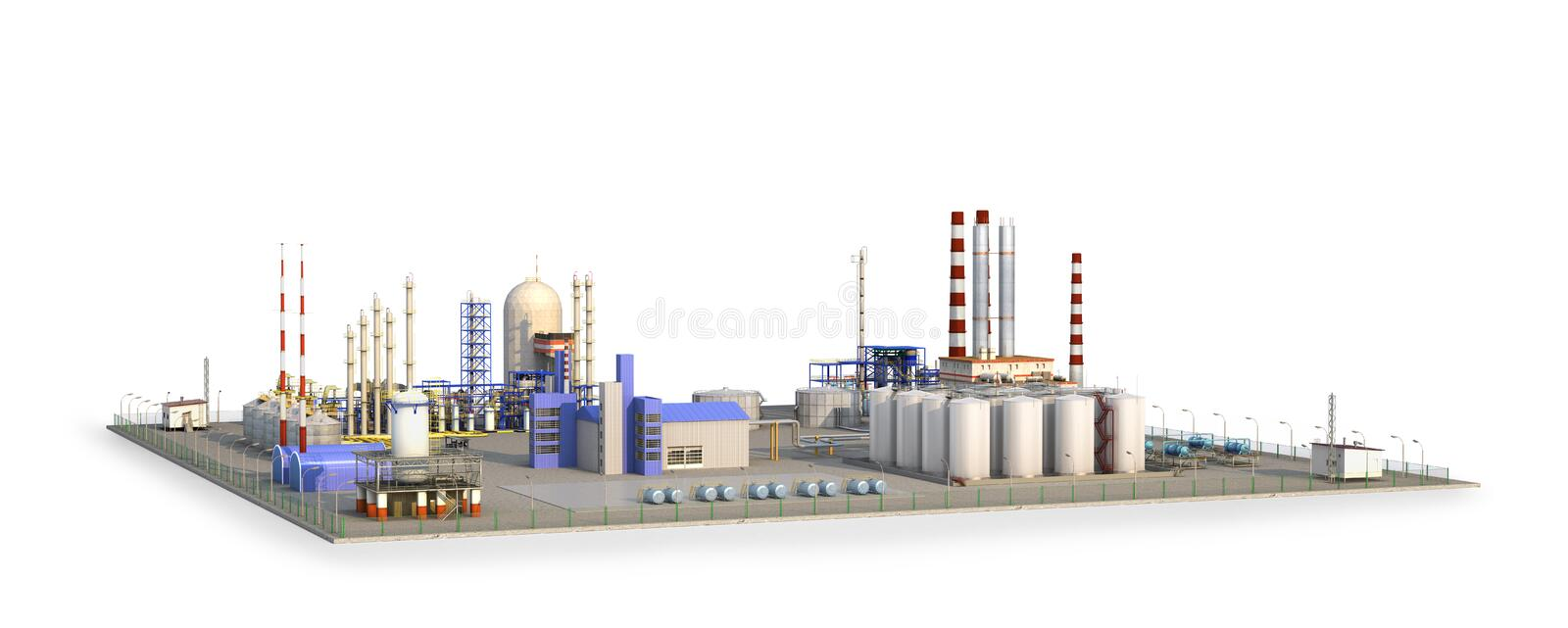 Factory outside Isolated on white background. vector illustration