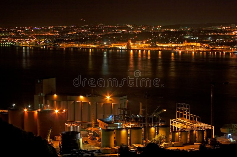Factory plant at the Tagus royalty free stock photos