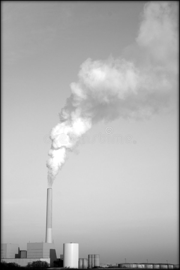 Factory, power station royalty free stock photography