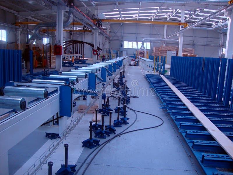 Factory production wood beams royalty free stock photo