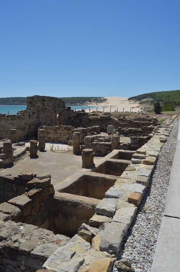 Factory Salted Fish In Roman City Baelo Claudia Dating In The Second Century BC Beach Of Bologna In Tarifa. Nature, Architecture, stock photos