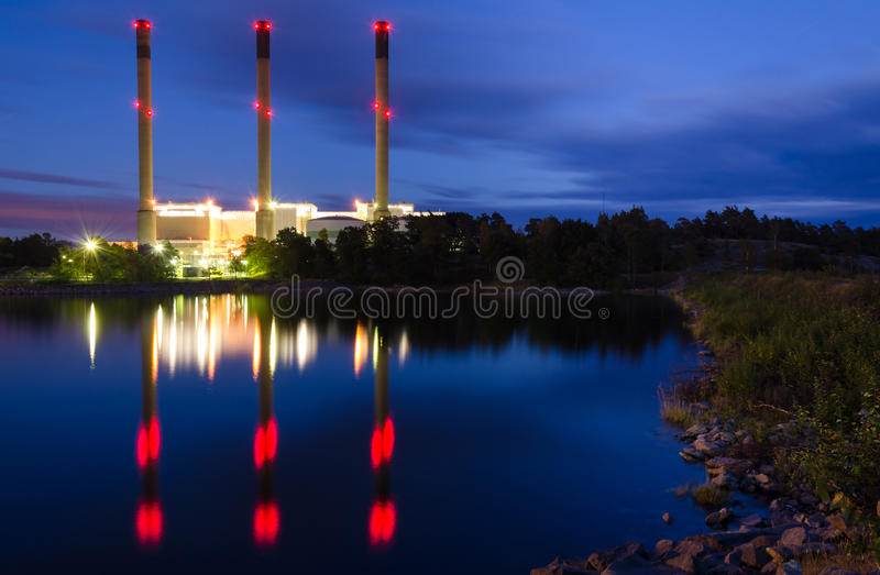 Download Factory on the sea coast stock photo. Image of fuel, environmental - 26797690