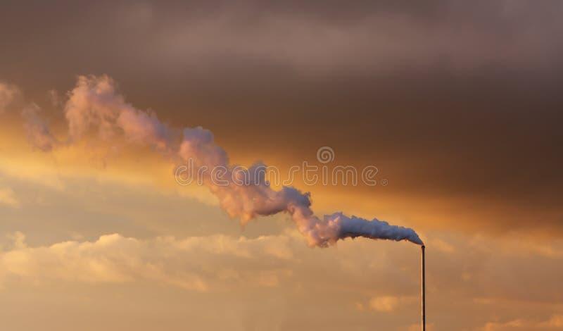 Factory Smoke Stack royalty free stock image