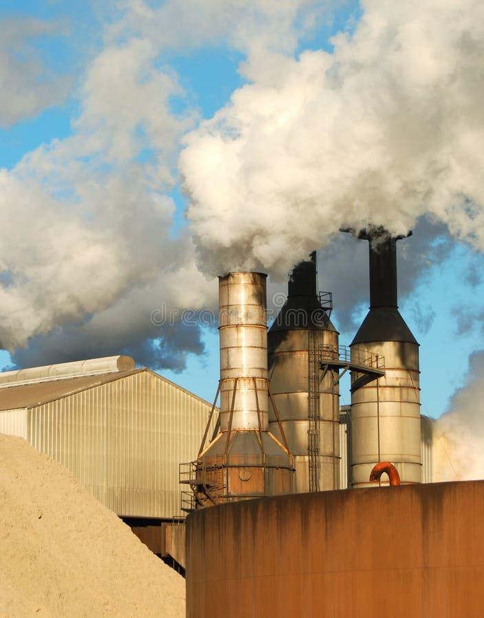 Factory Smoke Stacks stock photo