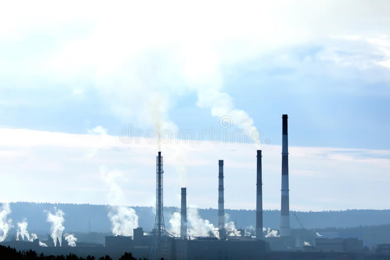 Download Factory with smokestacks stock image. Image of growth - 17959757