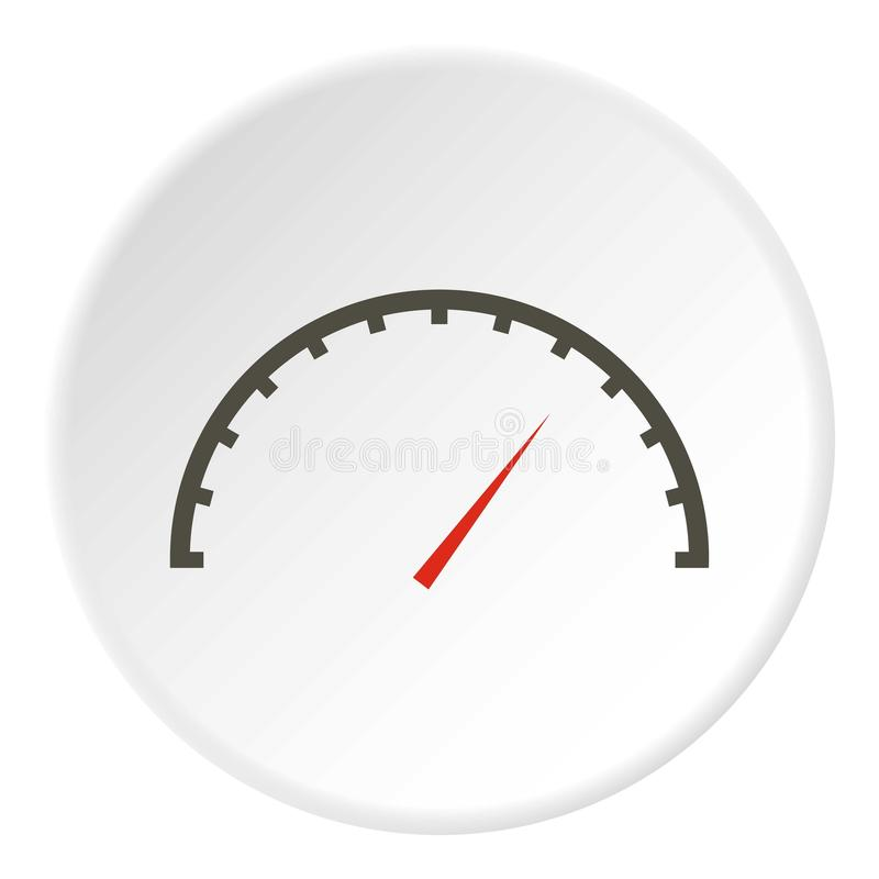 Factory speedometer icon, flat style royalty free illustration