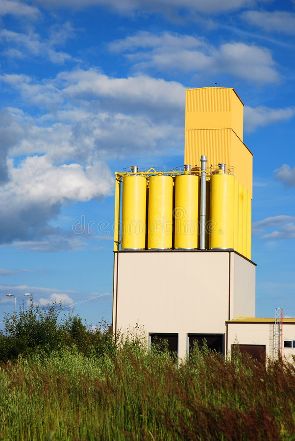 Download Factory storage tanks stock photo. Image of cylinder, factory - 7613316