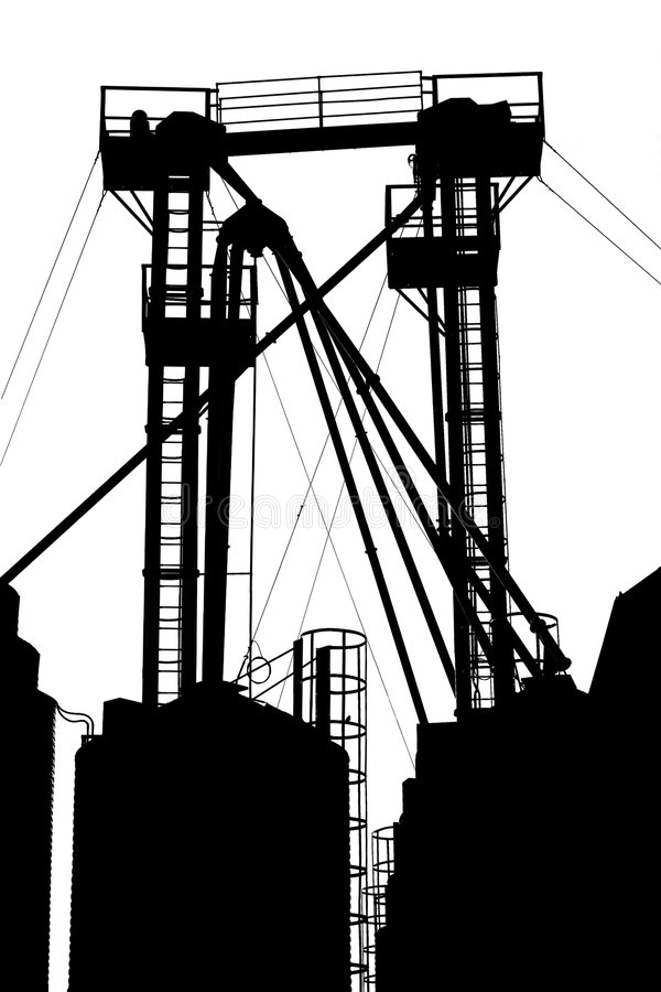 Factory structure stock photography