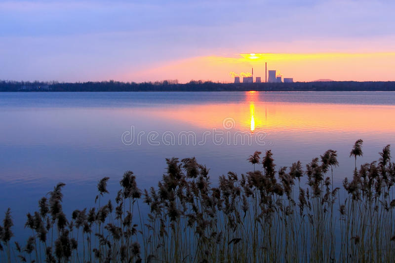 Download Factory Sunset stock photo. Image of sunset, atmosphere - 17950992