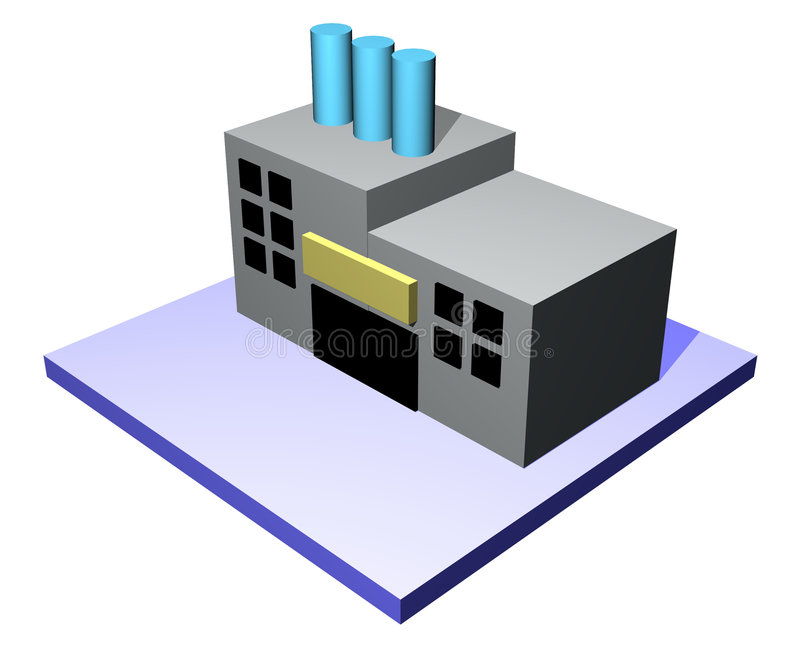 Download Factory - Supply Chain Management Series Stock Illustration - Illustration of headquarters, diagrams: 4055964