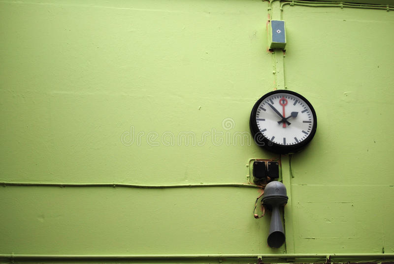 Download Factory time control stock image. Image of klaxon, wall - 9405861