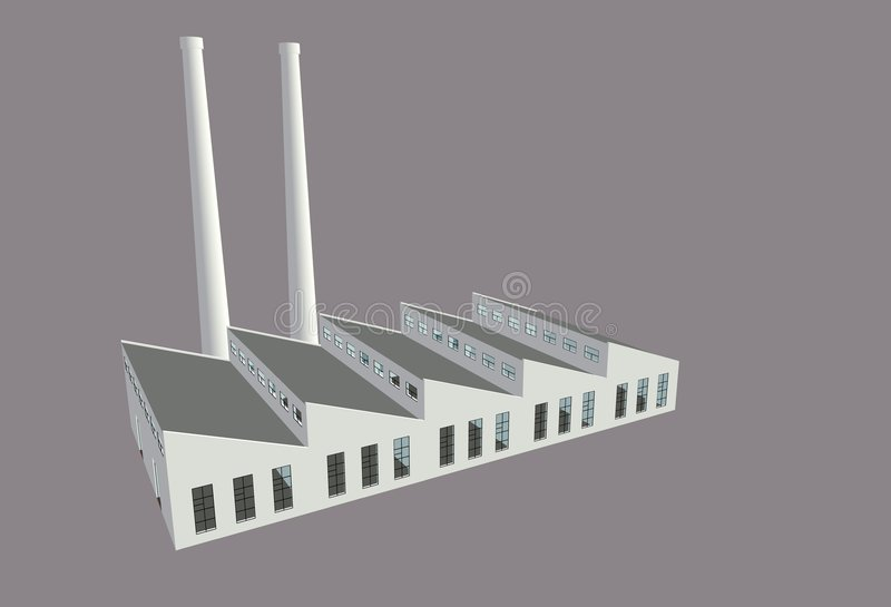 Factory In Traditional Style Stock Photo