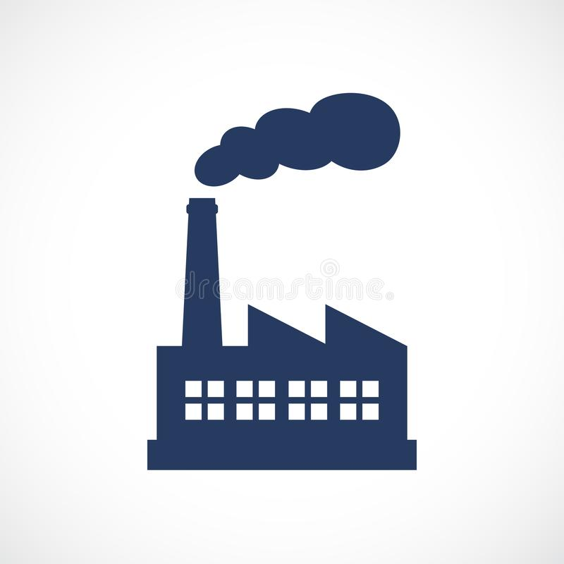 Factory vector icon royalty free illustration