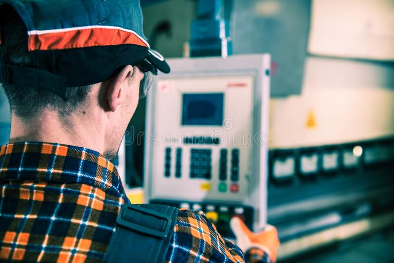 Factory Worker Operator stock image