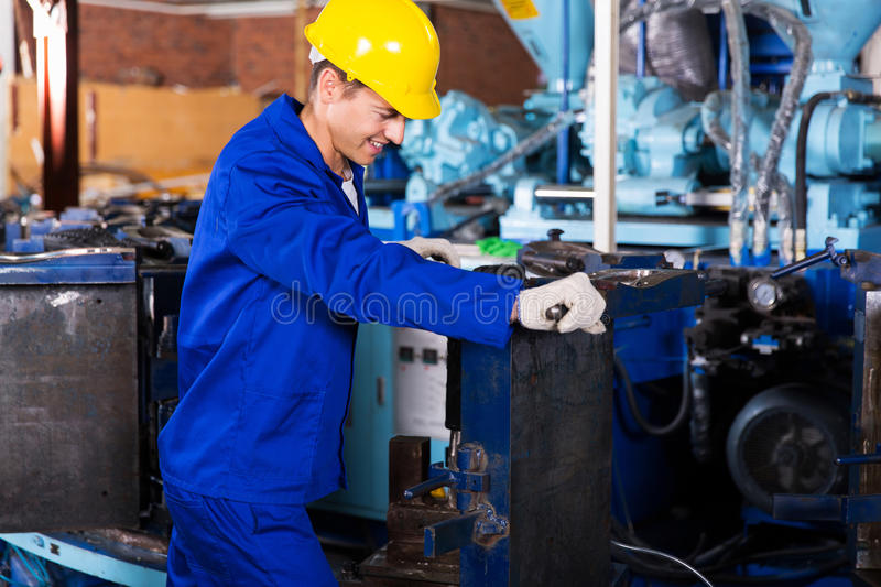 Factory worker working royalty free stock photos