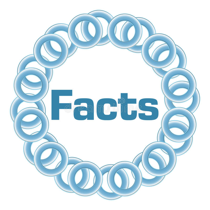Free Facts Blue Rings Circular Stock Photography - 89063682