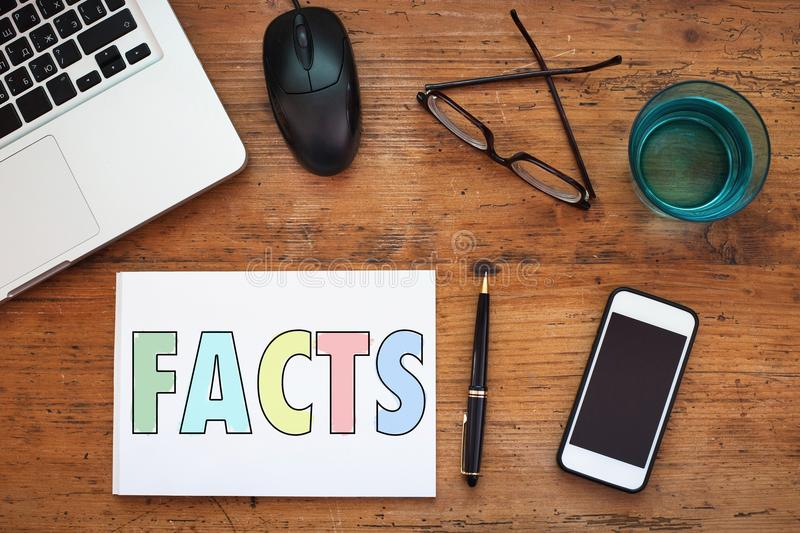 Facts royalty free stock photo