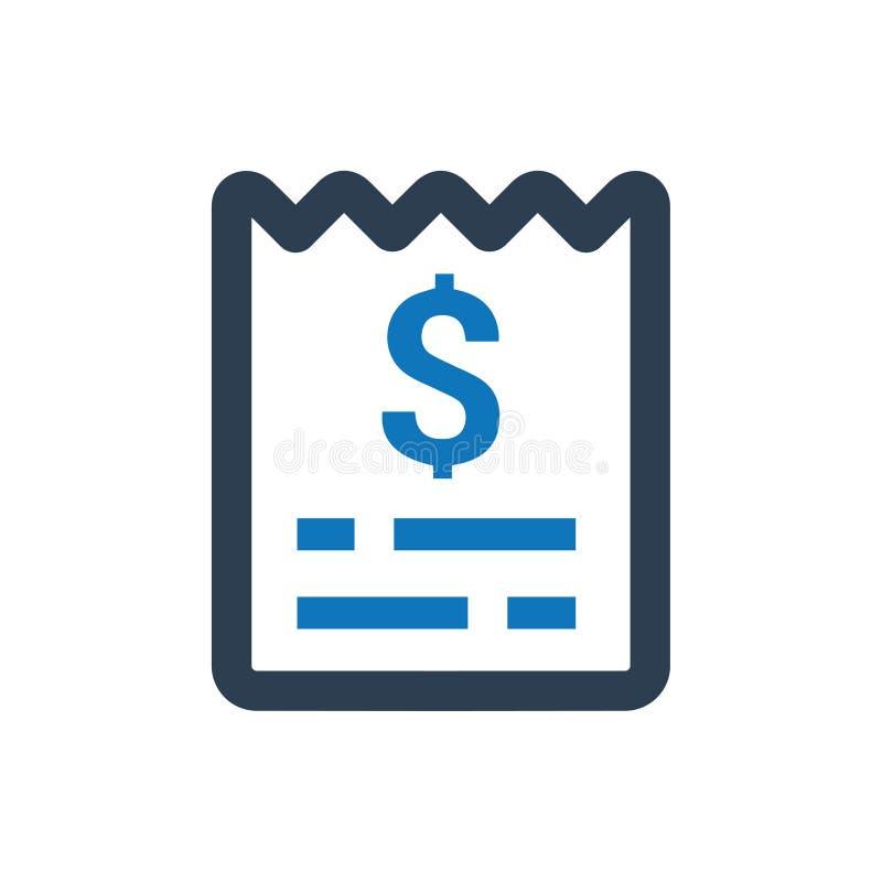 Factura, icono de las cuentas libre illustration