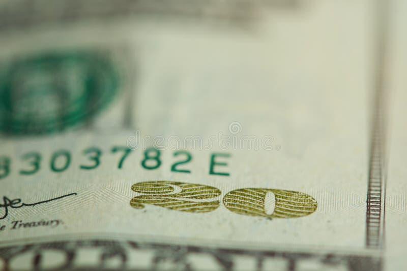 facture de billet de banque des 20 dollars image libre de droits