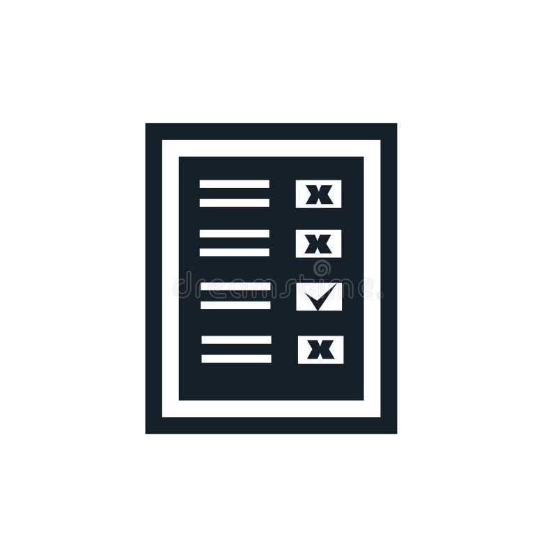 Facture el vector del icono aislado en el fondo blanco, muestra de la factura ilustración del vector