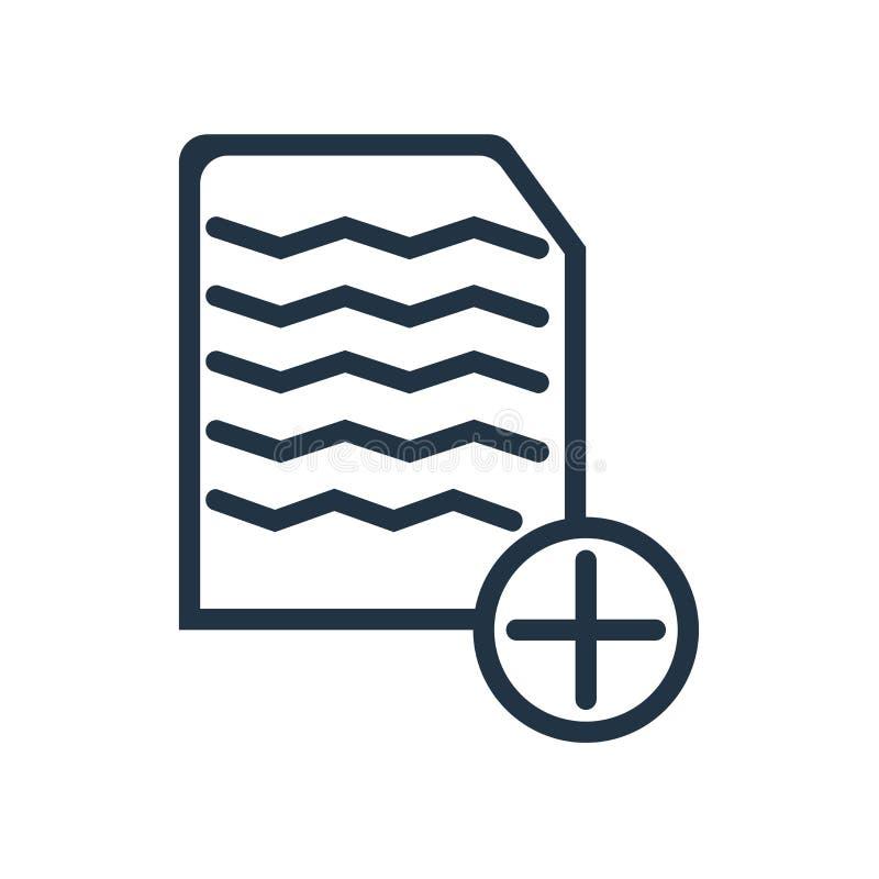 Facture el vector del icono aislado en el fondo blanco, muestra de la factura libre illustration
