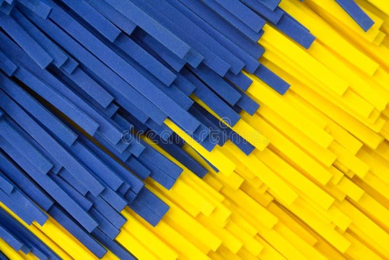Facture jaune et bleu abstrait de bande photo libre de droits