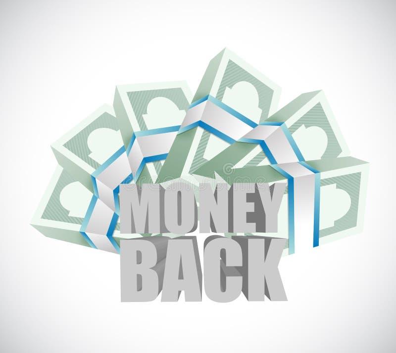 factures de dos et d'argent liquide d'argent illustration libre de droits