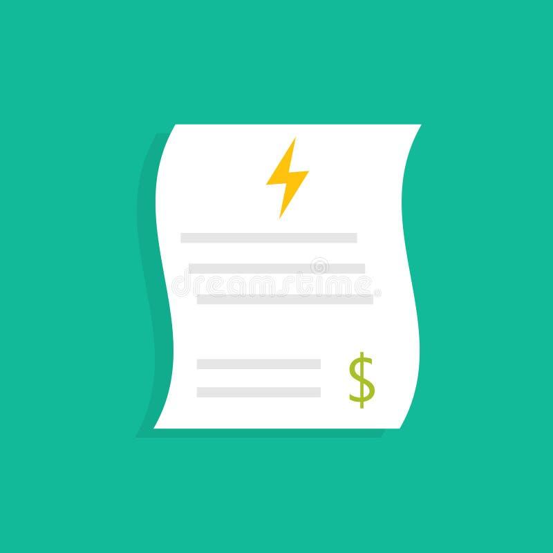 Factures de service public d'énergie illustration stock