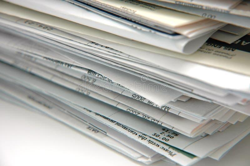 Factures et factures photos libres de droits