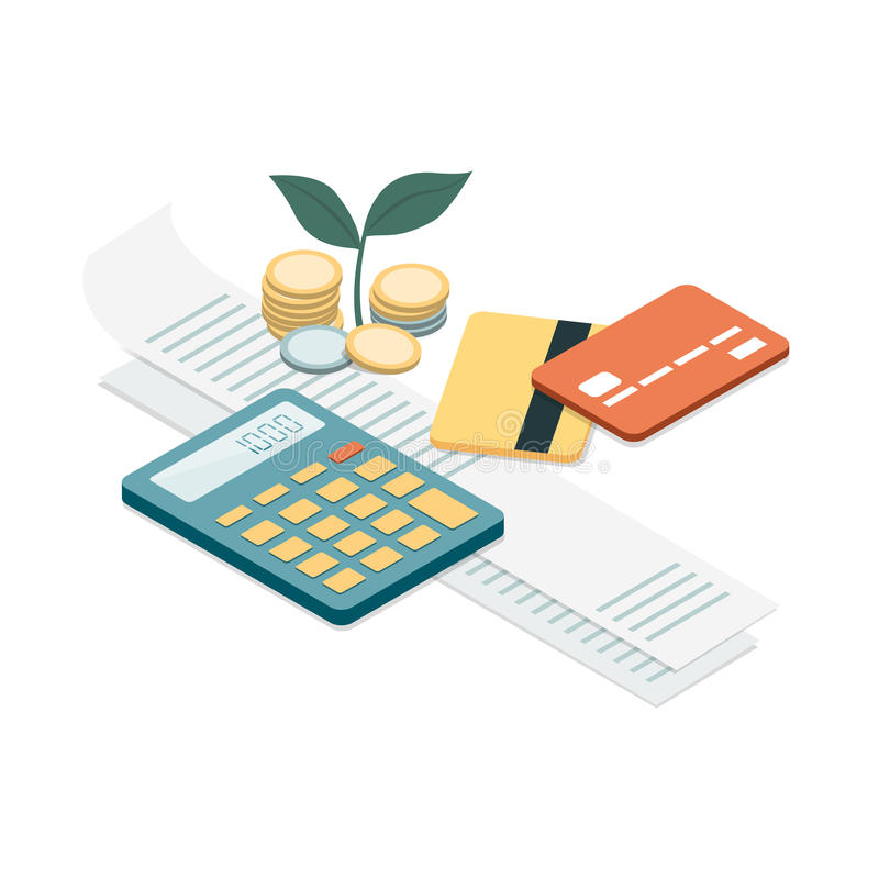 Factures et paiements illustration libre de droits