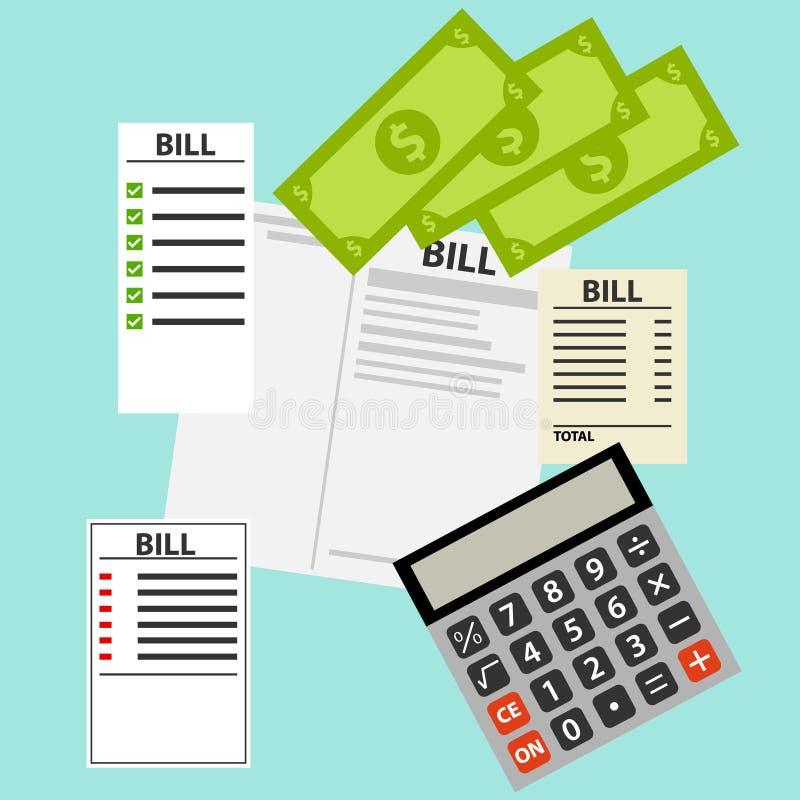 Download Factures pour des utilités illustration stock. Illustration du économie - 87708713