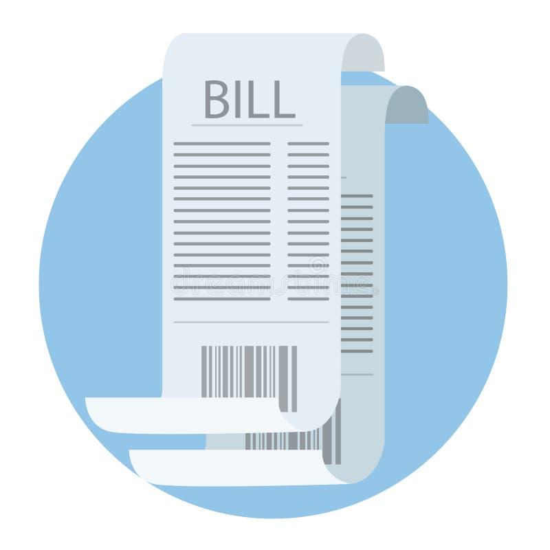 Factures pour le salaire Feuille financière de livre blanc illustration libre de droits