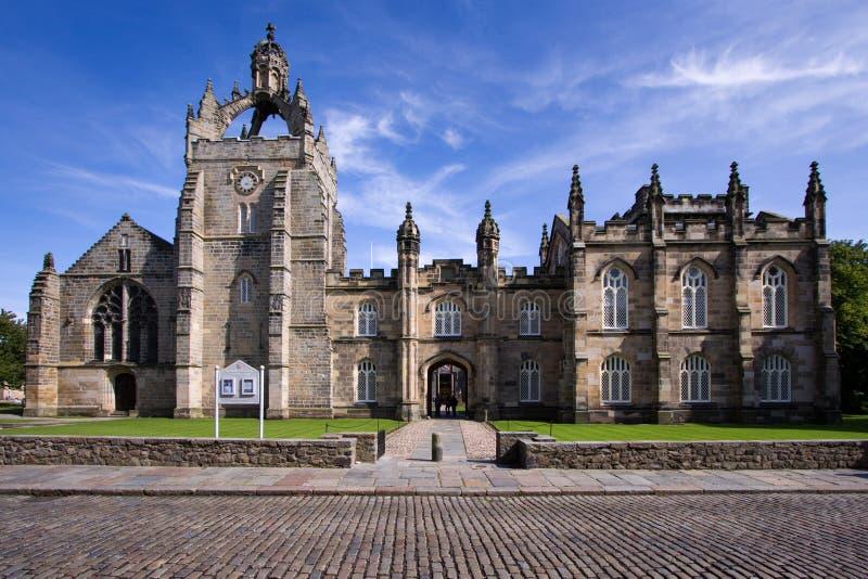 Faculdade Capela da universidade de Aberdeen do rei fotografia de stock