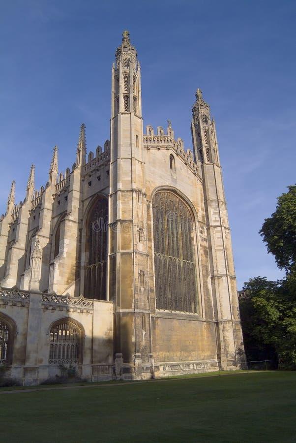 Faculdade Capela do rei, Cambridge. Para o leste parte dianteira imagens de stock royalty free