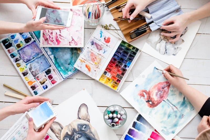 Faculdade criadora da tração da inspiração da imagem da pintura da arte imagem de stock