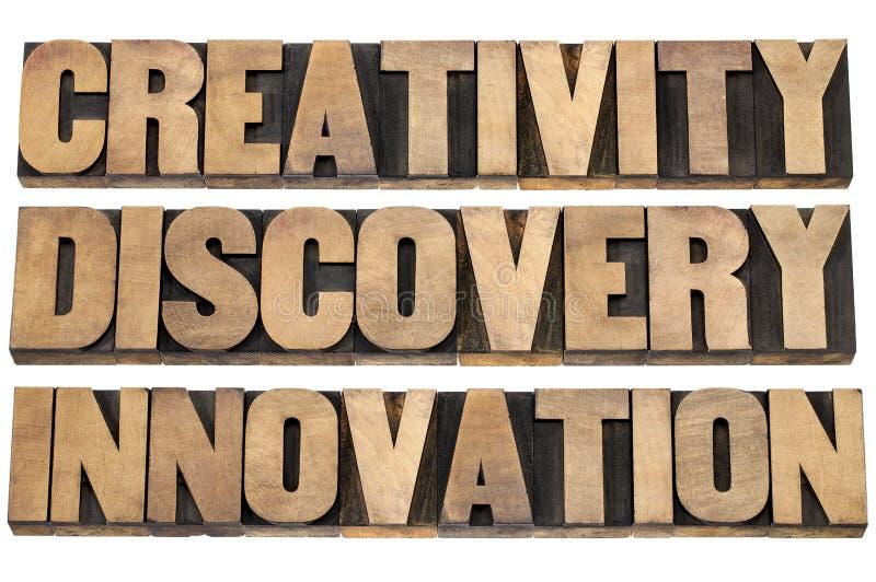 Faculdade criadora, descoberta, inovação fotografia de stock royalty free