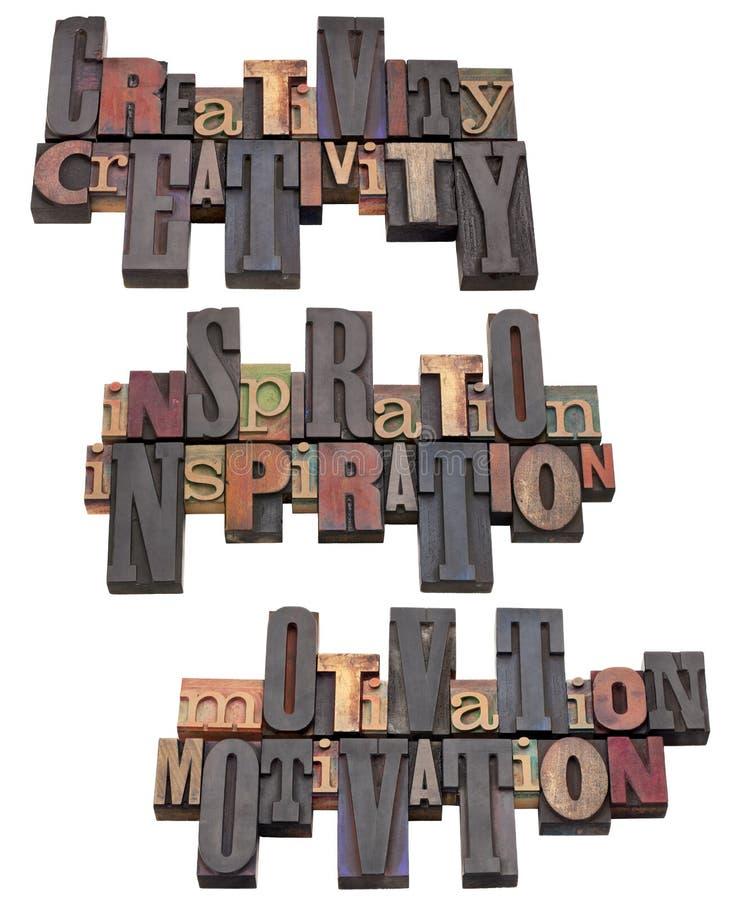 Faculdade criadora, inspiração e motivação foto de stock royalty free