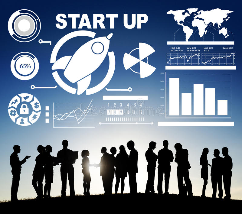 Faculdade criadora Startup da visão da inovação da estratégia do plano de negócios concentrada fotos de stock