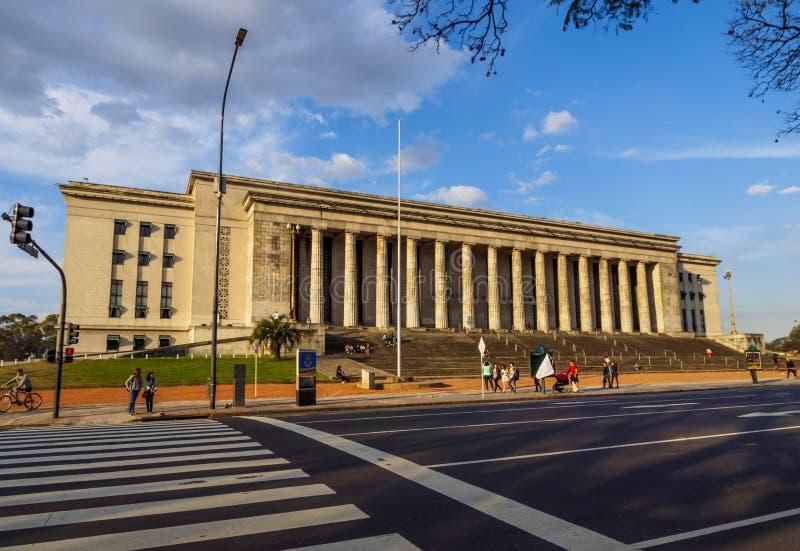 Faculdade da construção da lei da universidade de Buenos Aires foto de stock