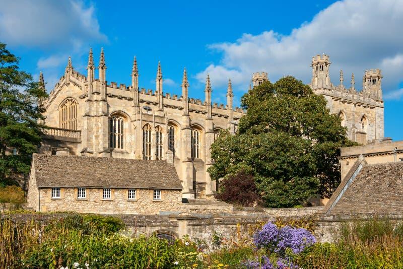 Faculdade da igreja de Christ Universidade de Oxford Oxford, Inglaterra fotos de stock royalty free